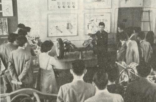 自動車構造の授業風景(30年代半)